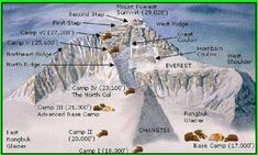 mt everest map - Bing Images