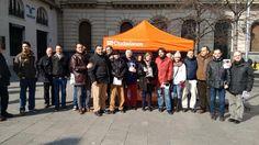 Se tiñó de Naranja la Plaza España de Zaragoza, llevando el mensaje de Ciudadanos - C's Aragón a los Zaragozanos el Domingo 8 de Febrero.