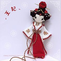 First work, love it!An Amigurumi geisha? Share your links to great crochet patterns, techniques--anything to provide others with amazing amigurumi inspiration!Princess by Lydiawlc Magic Wonderla Love Crochet, Beautiful Crochet, Diy Crochet, Crochet Crafts, Yarn Crafts, Crochet Baby, Crochet Projects, Crochet Princess, Crochet Amigurumi