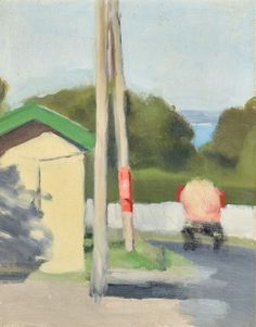Buy online, view images and see past prices for CLARICE BECKETT The Bus Stop (circa oil on board 41 x 34 cm. Invaluable is the world's largest marketplace for art, antiques, and collectibles. Australian Painting, Australian Artists, Bear Gallery, Elements Of Color, House On The Rock, Bus Stop, Art Market, Landscape Paintings, Landscapes