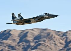 An F-15 Eagle departs during the mission employment phase exercise at Nellis Air Force Base, Nev., Dec. 7, 2012. (U.S. Air Force photo/Senior Airman Brett Clashman)