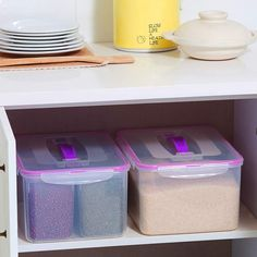 Cut clutter in your home once and for all! Here are the best storage containers for those problem areas that never seem to stay organized. Moving Storage Containers, Kitchen Storage Containers, Moving And Storage, Food Storage Containers, Storage Design, Diy Storage, Storage Organization, Storage Ideas, Organizing For A Move