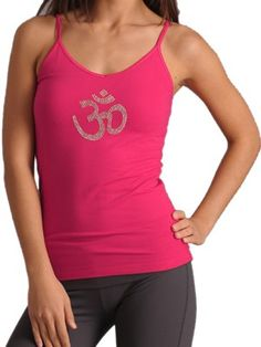 Embellished with the infinite Ohm symbol, our pre-shrunk camisole has a built in shelf bra for support. Perfect for that intense sweaty yoga class or just to sport out on the town Made from 95% Cotton & 5% Spandex......   . Yoga Wear www.LiveBreatheYoga.com