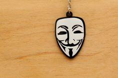 V for Vendetta Acrylic Keychain  Laser Cut V by SpaceSheepLaser, $12.00