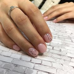 Autumn nails with leaves Beautiful autumn nails Beautiful delicate nails Fall nails 2016 Fall short nails Ideas of plain nails Pale pink nails Plain nails Best Nail Art Designs, Short Nail Designs, Beautiful Nail Designs, Fancy Nails, Trendy Nails, Cute Nails, Hair And Nails, My Nails, Plain Nails