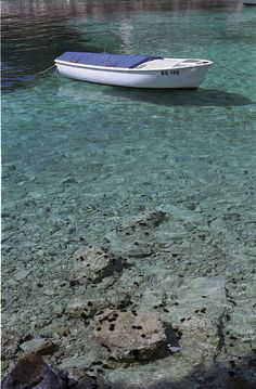 Clear water on the Island of Solta near Split, Croatia