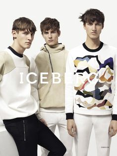 Andreas Sanby, Luca Stascheit and Rutger Schoone front the Spring/Summer 2014 campaign of Iceberg, photographed by Benny Horne and styled by...