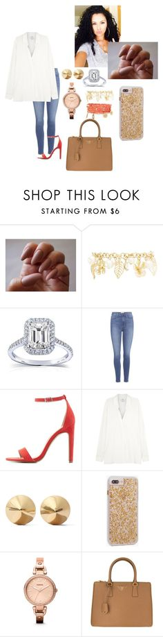 """""""Family Christmas Photos🎄❤️✨"""" by madisonw525 ❤ liked on Polyvore featuring Charlotte Russe, Kobelli, Paige Denim, Vince, Eddie Borgo, Case-Mate, FOSSIL, Prada and Emily & Ashley"""