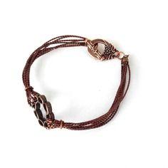 Bracelet  tout marron cuivré métallisé