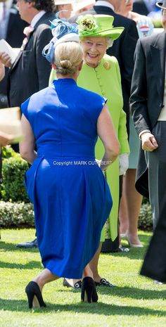 Queen Elizabeth II and Zara Tindall attend Royal Ascot 2017 at Ascot Racecourse on June 20, 2017 in Ascot, England.