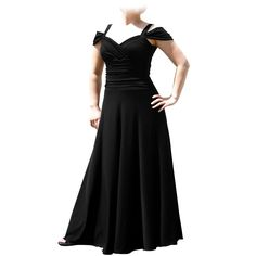 Evanese Women's Plus Size Elegant Long Formal Evening Dress with Shoulder bands * Special  product just for you. See it now! : Plus size dresses