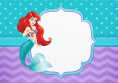 Uau! Veja o que temos para Convite para Festa Pequena Sereia Ariel Lil Mermaid Birthday Party, Little Mermaid Parties, Superhero Birthday Party, Ariel Mermaid, Ariel The Little Mermaid, Disney Picture Frames, Mermaid Pictures, Birthday Scrapbook, Frozen