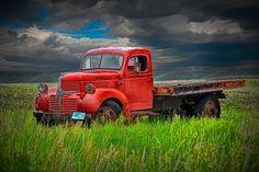 Red Truck on the Prairie A Fine Art Wall Decor by RandyNyhofPhotos