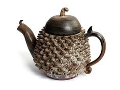 An angry-looking teapot. I love it.
