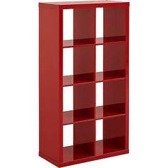 Vinyl Record Storage Rack Store LP Records Vintage Eight Shelves Organizer Red