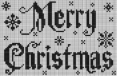 Free MERRY CHRISTMAS pattern
