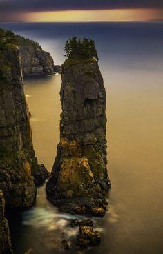 Seastack on Spout Hike, East Coast Trail, Newfoundland.