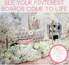 See your Pinterest boards come to life on January 29th at Bridal Extravaganza  of Atlanta! www.beabride.net