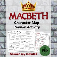 Help your students make sense of all the characters in Shakespeare's play, Macbeth, with this character map activity. Using the clues on the map, students fill in the correct names of the characters.An answer key is included.Want more Macbeth resources?