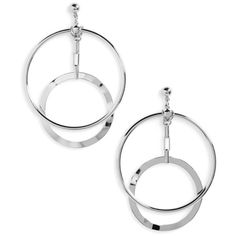 Women's Biko Eclipse Hoop Earrings (135 SAR) ❤ liked on Polyvore featuring jewelry, earrings, silver, silver jewelry, silver hoop earrings, silver jewellery, hoop earrings and silver earrings