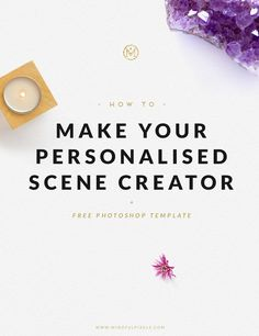 """Witha personalised scene creator you can stylethe images for yourblog with your own """"this is so YOU!"""" props + you can showcase your handmade creations."""