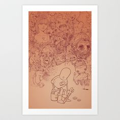 You can't fix everything Art Print by Hatrobot - $20.00