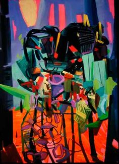 Assemblage  2004  Oil on canvas  48 x 36 inches