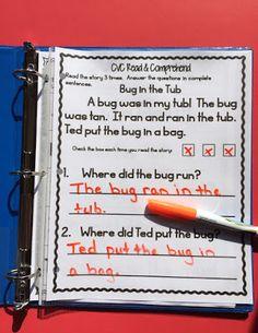 Build fluency and Comprehension: CVC Word Work Activities
