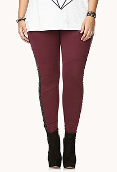 Bold Faux Leather Pants | FOREVER21 PLUS - 2000075381 #ForeverHoliday