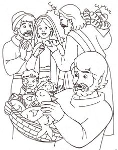 Bible Story Crafts New Testament crafts, Sunday School crafts Jesus Coloring Pages, Fish Coloring Page, Coloring Pages For Kids, Coloring Sheets, Coloring Bible, Printable Coloring, Sunday School Coloring Pages, Miracles Of Jesus, Bible Story Crafts