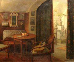 Einar Mogens Wegener (1882-1931) - Interior with Guitar, 1925