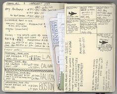 journal / lists / planner.... love the idea of making a page with an envelope.