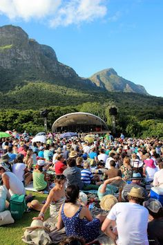 Open air concerts take place regularly during summer at Kirstenbosch Botanical Gardens in Cape Town Open Air, Cape Town South Africa, Afrikaans, Best Location, Botanical Gardens, Strand, Places To See, Around The Worlds, Adventure