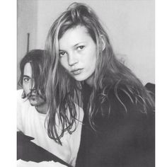 back in the 1990s. a very young kate moss and johnny depp in love. the 90s.