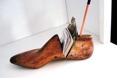 Vintage Shoe Mold Wood Business Card Holder by vintageexchange, $21.00