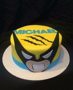 Wolverine cake Wolverine Cake, Deadpool Cake, Superhero Birthday Party, Man Birthday, Birthday Party Themes, Xmen, Topper, Cakes For Boys, Piece Of Cakes
