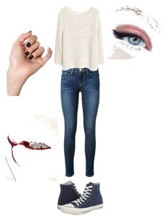 """""""Like"""" by nedim-848 ❤ liked on Polyvore featuring Frame Denim, MANGO, Converse and Charlotte Tilbury"""