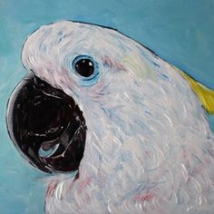 (CreativeWork) Cockatoo Happiness by Julie Hollis. arcylic-painting. Shop online at Bluethumb. Quirky Art, Weird Art, Buy Art Online, Cockatoo, Paintings For Sale, Online Art Gallery, Abstract Art, Original Art, Happiness