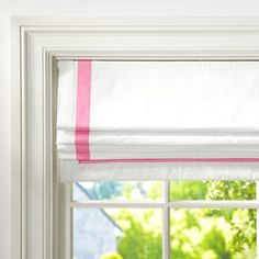 Suite Ribbon Cordless Roman Shade With Blackout Lining | PBteen