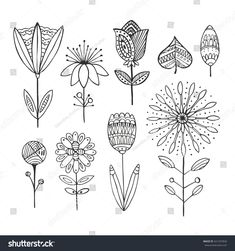 Find Hand Drawn Vintage Floral Elements Doodle stock images in HD and millions of other royalty-free stock photos, illustrations and vectors in the Shutterstock collection. Doodle Patterns, Flower Patterns, Doodle Borders, Doodle Drawings, Fairy Drawings, Zen Doodle, Doodle Art, Inspiration Artistique, Notebook Doodles