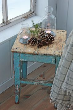 Shabby Chic Home Decor Shabby Chic Bedrooms, Shabby Chic Homes, Shabby Chic Furniture, Shabby Chic Decor, Rustic Furniture, Vintage Decor, Painted Furniture, Shabby Chic Christmas Decorations, Holiday Decor