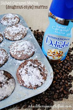 muffins made with flavored creamer! i should be mopping the floor: Salted Caramel Mocha {Doughnut-Style} Muffins: Just Desserts, Delicious Desserts, Dessert Recipes, Yummy Food, Cupcakes, Cupcake Cakes, Yummy Treats, Sweet Treats, Quiche