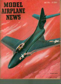 Model Airplane News June 1953 Grumman Cougar www.advintageplus.com