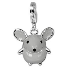 SilberDream Charm big mouse enamel 925 Sterling Silver Pendant Lobster Clasp FC612 >>> Read more  at the image link.