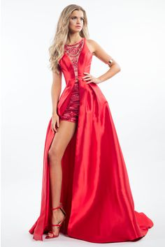 Check out the latest Rachel Allan 7556 dresses at prom dress stores authorized by the International Prom Association. Unique Prom Dresses, Prom Dresses 2017, Pageant Dresses, Pretty Dresses, Beautiful Dresses, Short Dresses, Formal Dresses, Prom Dress Stores, Romper Dress