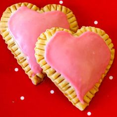 Raspberry Cream Cheese Heart Tarts - Pop Tarts without all the chemicals!