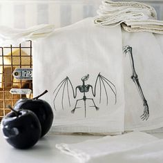 Unnerving Napkins    Iron-on transfers imprint cloth napkins with Halloween spirit. To get the look, print clip art onto transfer paper. Iron on according to manufacturer's directions.