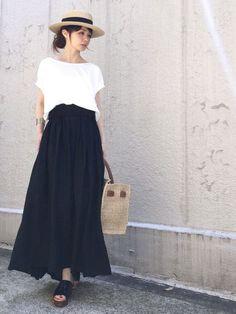 AZUL ENCANTOのTシャツ・カットソー「【消臭効果】【接触冷感】【洗濯機で洗える】ショルダーレース切替プルオーバー」を使ったari☆のコーディネートです。WEARはモデル・俳優・ショップスタッフなどの着こなしをチェックできるファッションコーディネートサイトです。