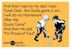 Homework or hockey? A decision Ducks fans who are students have to make all too frequently!