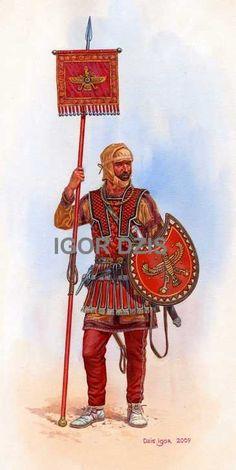 Persian cavalry standardbearer IV BC de IGOR DZIS.